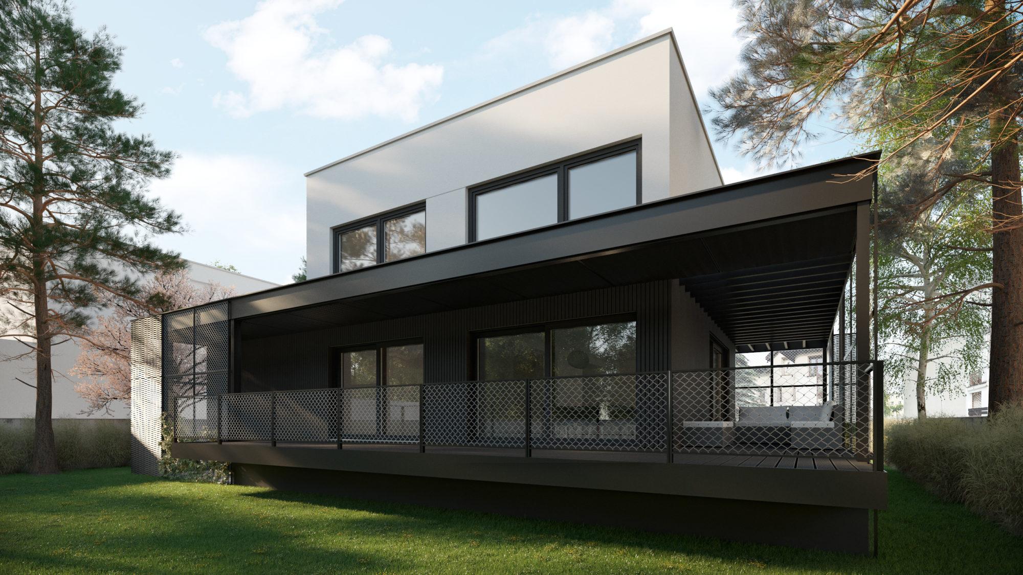 Dom w siatce - zobacz projekt